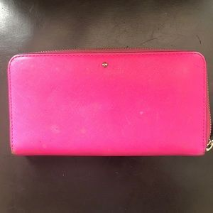 "Kate Spade Bright Pink ""Lacey"" Wallet"
